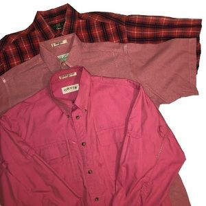 Lot of 3 Orvis Men's Shirt Size Medium Button Up